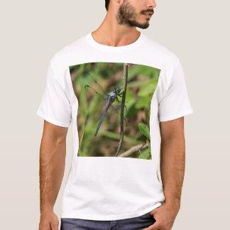 Großes blaues Abstreicheisen-Libellen-Shirt T-Shirt