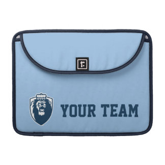Großes blaues Monarch-Schild - Blau Sleeve Für MacBooks