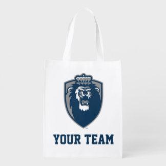 Großes blaues Monarch-Schild Einkaufstasche