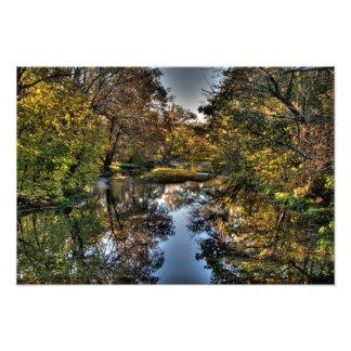 Großes Darby Creek, Prarie Eichen Metropark, Ohio Kunstfotos
