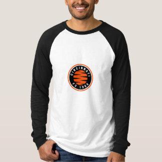 Großes deutsches Art-Cincinnati-Fußball-Euro-Logo T-Shirt