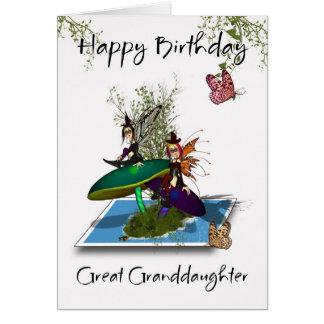Großes - Enkelin Geburtstags-Karte - niedliches Karte