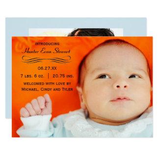 Großes Foto blühen - Geburts-Mitteilung Karte