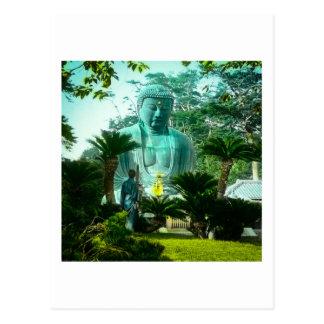 Großes Gaibutsu in Kamakura riesiger Buddha Japan Postkarte