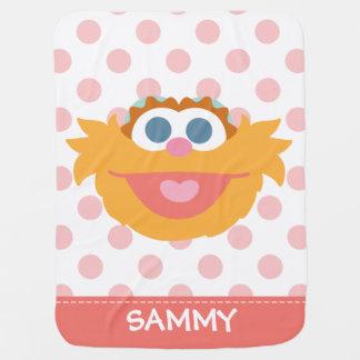 Großes Gesicht | Baby-Zoe addieren Ihren Namen Kinderwagendecke