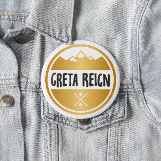Großes Greta Herrschafts-Abzeichen/Button-Knopf Runder Button 10,2 Cm