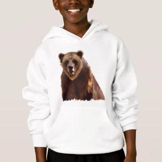 Großes Grizzlybär-Tier-Kunst-Geschenk Hoodie