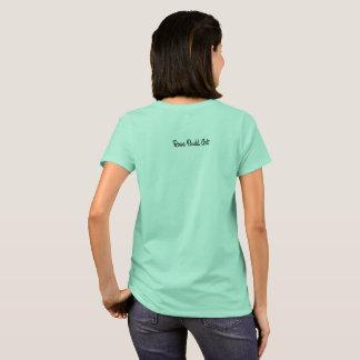 großes grundlegendes T - Shirtblau der Frauen T-Shirt