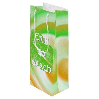 """Großes grünes irisches Lippen""""Erin gehen bragh"""" Geschenktüte Für Weinflaschen"""