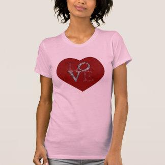 Großes Herz mit Funkeln LIEBE! T-Shirt
