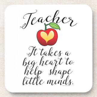Großes Herz, zum des Form-Kleingeister-Lehrers zu Getränkeuntersetzer