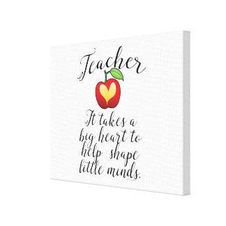 Großes Herz, zum des Form-Kleingeister-Lehrers zu Leinwanddruck