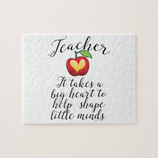 Großes Herz, zum des Form-Kleingeister-Lehrers zu Puzzle
