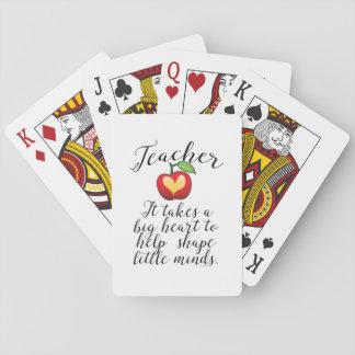 Großes Herz, zum des Form-Kleingeister-Lehrers zu Spielkarten