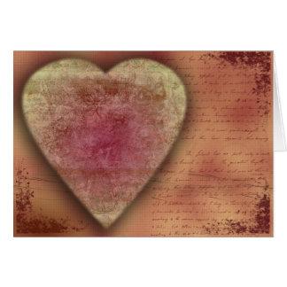 Großes Hochzeits-(oder Valentinsgruß) Herz Karte
