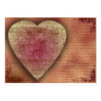 Großes Hochzeits-(oder Valentinsgruß) Herz Postkarte