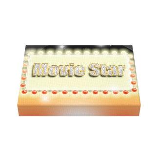 Großes Hollywood-Filmstar-Nachtkino-Ereignis Galerie Falt Leinwand