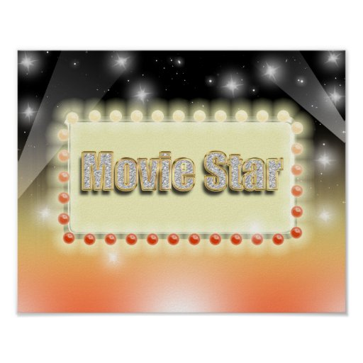 Großes Hollywood-Filmstar-Nachtkino-Ereignis Plakat