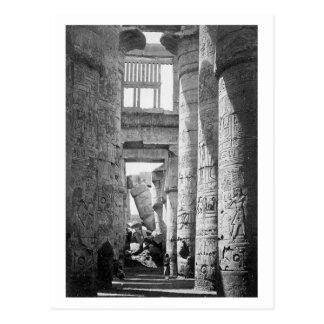 Großes Hypostilhall Karnak Ägypten ~ 1845 Postkarten