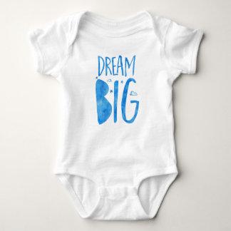 Großes, inspirierend Traumzitat, blaues Aquarell Babybody