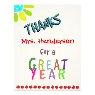 Großes Jahr, Klassenzimmer danken Ihnen zu 21,6 X 27,9 Cm Flyer
