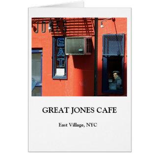 GROSSES JONES-CAFÉ KARTE
