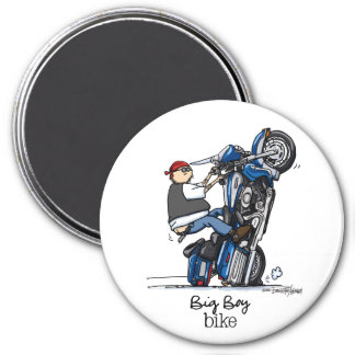 Großes Jungen-Motorrad Runder Magnet 7,6 Cm