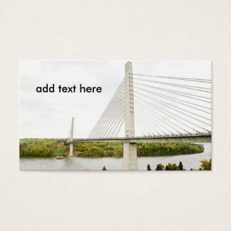großes Kabel blieb Brücke Visitenkarte
