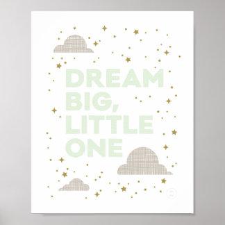 Großes, kleines Traum im tadellosen Grün Poster