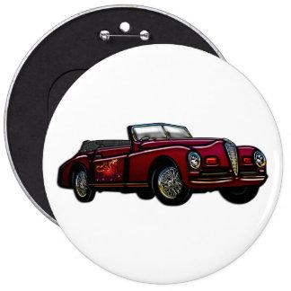 Großes konvertierbares klassisches Auto Runder Button 15,3 Cm