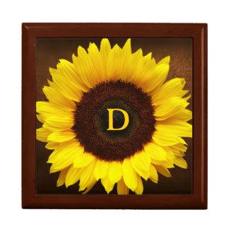 Großes Lächeln/gelbe Sonnenblume Schmuckschachtel