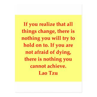 großes Lao Tzu Zitat Postkarte
