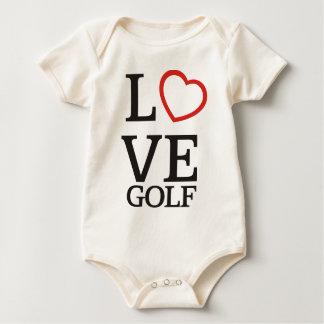 Großes LIEBE Golf Baby Strampler