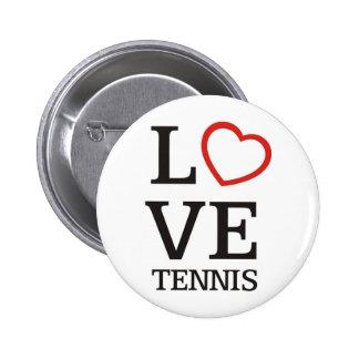 Großes LIEBE Tennis Anstecknadel