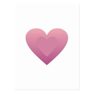 Großes lila Herz Postkarte