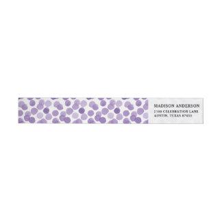 Großes lila Punkt-Muster