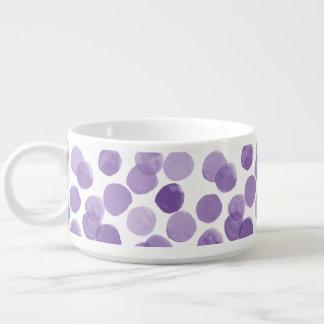 Großes lila Punkt-Muster Schüssel