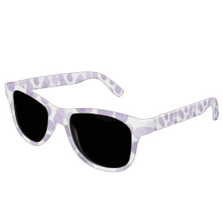 Großes lila Punkt-Muster Sonnenbrille