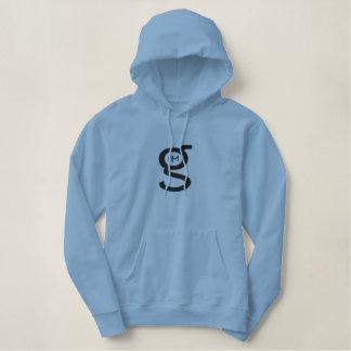 Großes Logo lt-Blue Pullover Hoodie w