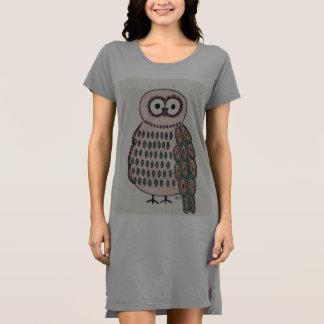 Großes mit Augen Eule Shirt-Kleid Kleid