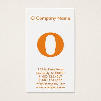 großes orange Monogramm Visitenkarte