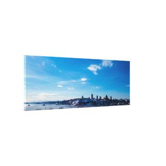 Großes Panorama Québec-Stadt Leinwanddruck