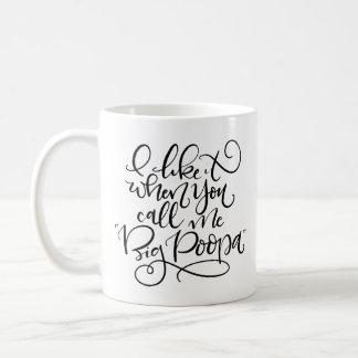 Großes Poopa Kaffeetasse