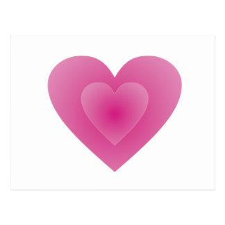 Großes rosa Herz Postkarten