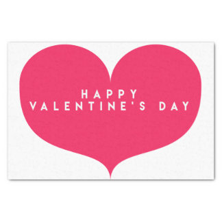 Großes rosa Herz-Valentinstag-Seidenpapier Seidenpapier