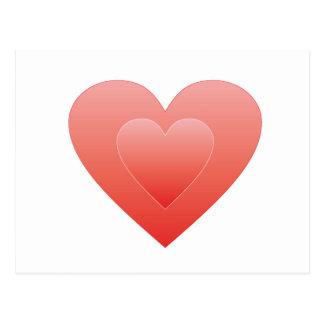 Großes rotes Herz Postkarten