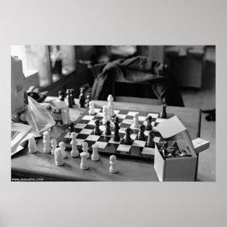 Großes Schach-Plakat Poster