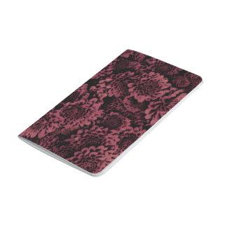 großes schimmerndes Blumenrosa (I) Taschennotizbuch