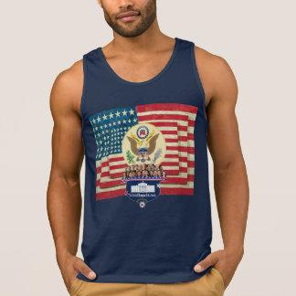 großes Siegel des Haus-2016 und Flaggen-Shirt Tank Top