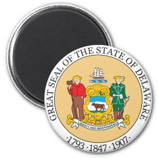 Großes Siegel des Staat von Delaware Runder Magnet 5,1 Cm